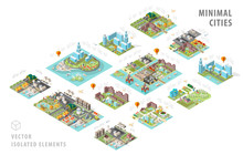 Set Of Isolated Isometric Mini...