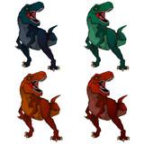 Fototapeta Dinusie - Isolated illustration of a cartoon Tyrannosaur