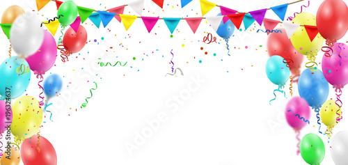 Fotomural Balloons header background
