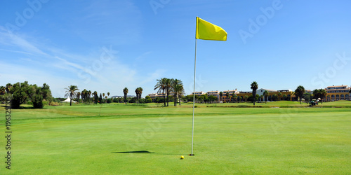 Golf course in Costa Ballena, Rota, Cadiz province, Spain Fototapet