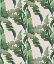 Green Tropical Leaves Vector Pattern Background. Abstract Summer Templates