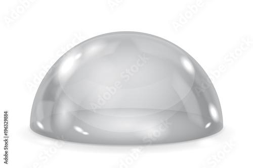 Fotografija Gray glass dome. Shiny transparent semi sphere