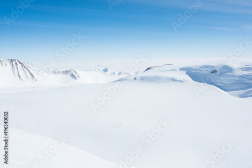 Photo Stands Antarctica Mt Vinson, Sentinel Range, Ellsworth Mountains, Antarctica