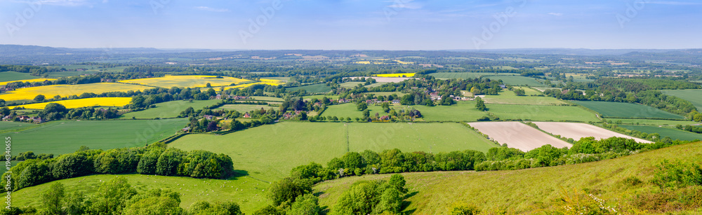Fototapety, obrazy: Summer rural panoramic landscape Southern England UK