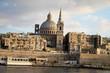 View from Sliema to historic Valletta, Malta