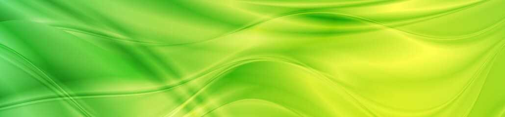 Abstract shiny bright green waves banner design