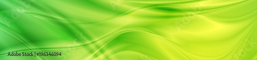 Obraz Abstract shiny bright green waves banner design - fototapety do salonu