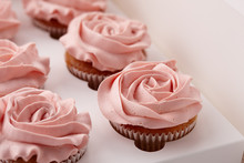 Muffins Or Cupcakes With Flowe...