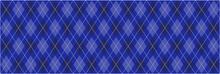 Blue Argyle Banner