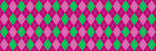 Pink  And Green Argyle Banner
