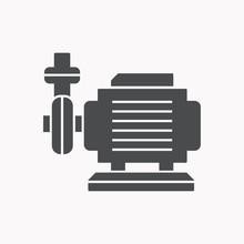 Water Pump Vector Icon.