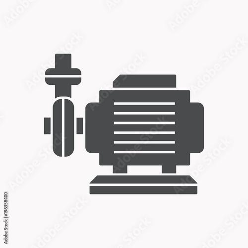 Fotomural Water pump vector icon.