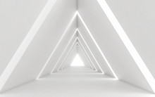 Abstract White Triangle Corrid...