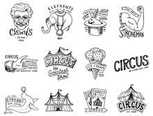 Carnival Circus Badge. Harlequ...