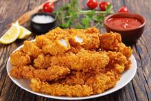Close-up Of Crispy Fried Chick...