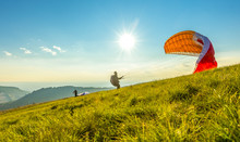 Paraglider On The Ground