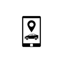 Smartphone With Taxi Service. ...
