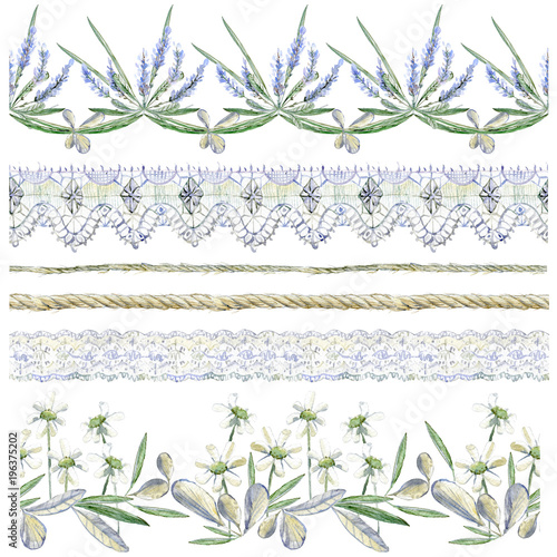 Dekoracja na wymiar watercolor-clipart-collection-of-seamless-borders-flower-compos