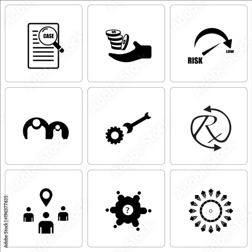 Stampe  Set Of 9 simple editable icons such as chiller, roundtable, you are here, rx, op
