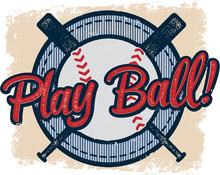 Vintage Play Baseball Sports D...