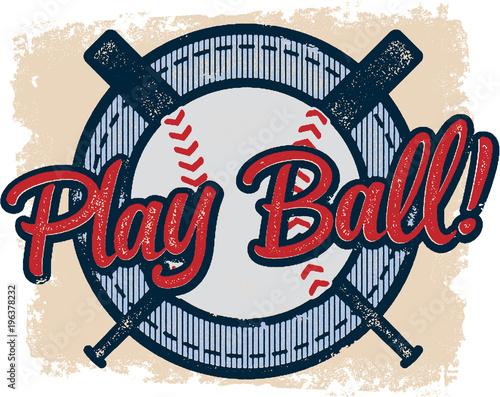 Vintage Play Baseball Sports Design © squarelogo