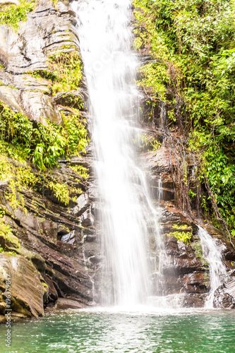Beautiful Waterfall in Belize, Central America. Canvas Print