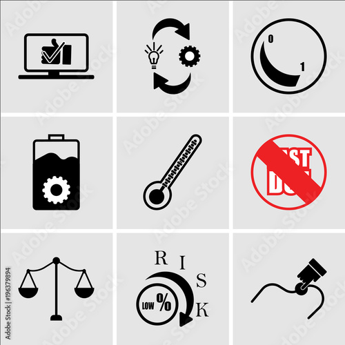 Stampe  Set Of 9 simple editable icons such as you are here, lower risk, advocate, past