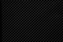 Metal Net Isolated On Black Background