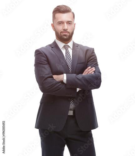 Fotografie, Obraz  in full growth. businessman arms folded