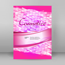 Cosmetics Flyer Design Element...