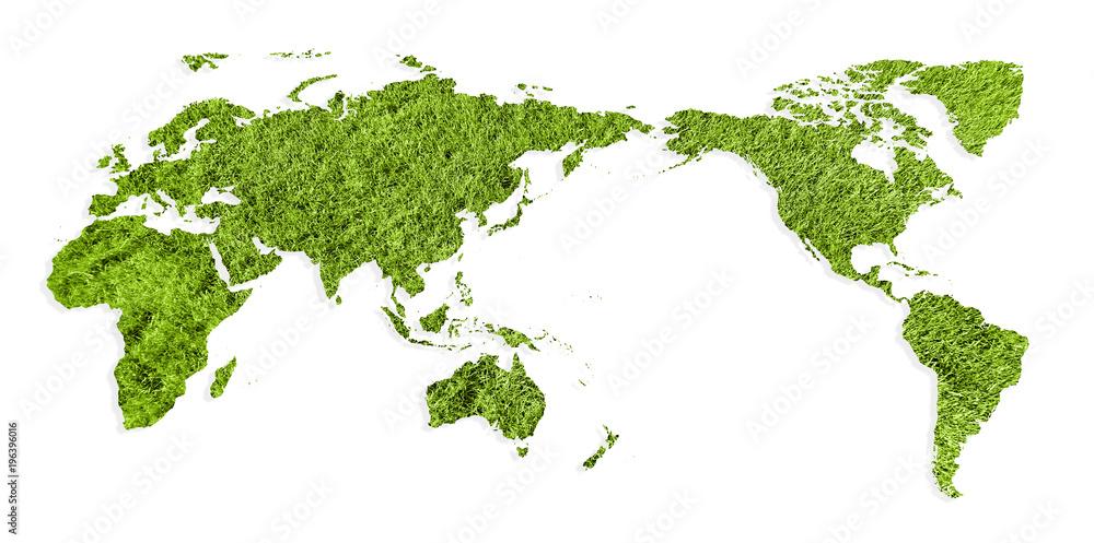 Fototapeta zielona Mapa świata