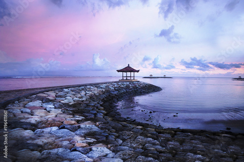 Fotobehang Purper Bali Sunset
