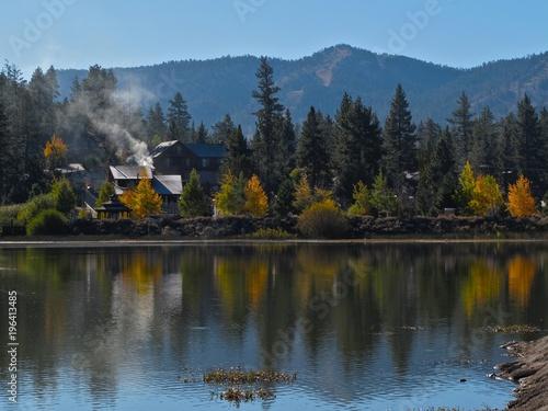 Photo Fall at Big Bear Lake, San Bernardino Mountains, California