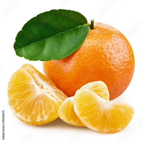 tangerines with leafs