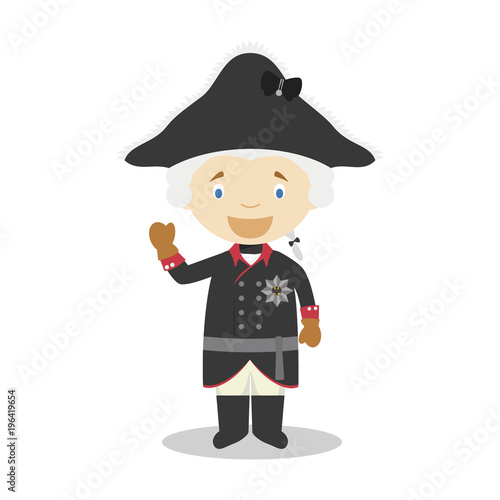 Fotomural  Frederick II of Prussia (The Great) cartoon character