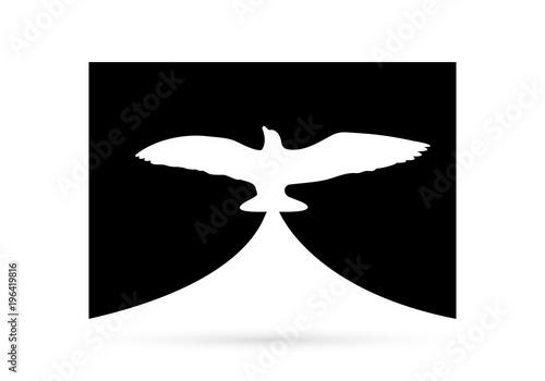 icon logo eagle dove silhouette design element symbol01