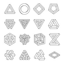 Set Of Impossible Shapes. Opti...
