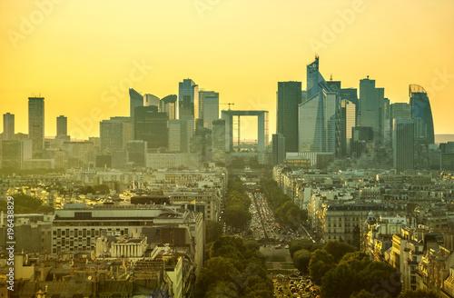 Fotografie, Obraz  Paris skyline