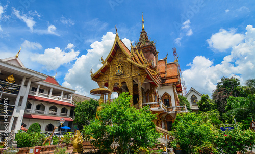 Tuinposter Bedehuis Buddhist temple in Chiang Mai, Thailand