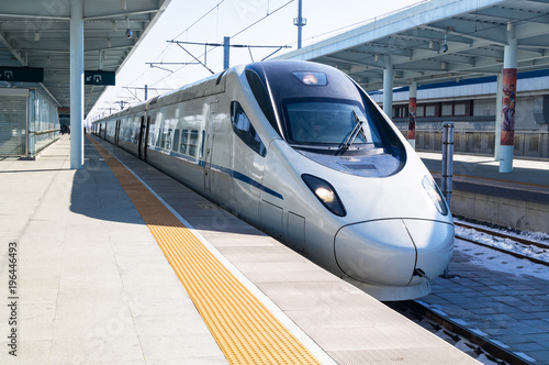 Tablou Canvas View of a CRH high-speed bullet train