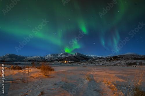 Foto op Aluminium Heelal Aurora Borealis lofoten norway