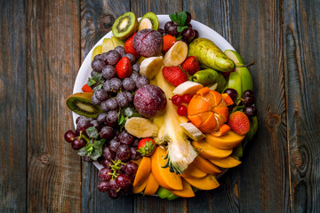 Fruit on a white plate