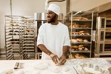African American Baker Prepari...