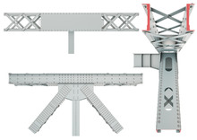 Steel Beam Structure On A White Background. Isolated