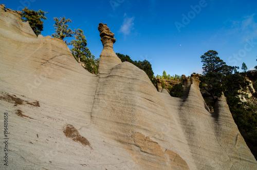 Deurstickers Canarische Eilanden Rock Formations Paisaje Lunar