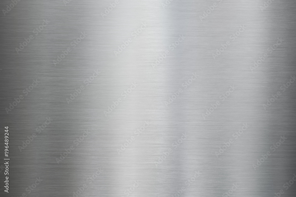 Fototapety, obrazy: Metal brushed steel or aluminum texture