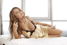 Beautiful Sensual Blonde Young...