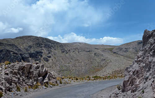 Foto op Aluminium Grijs Peru. Desert and Mountains near Chivay and Colca Canyon