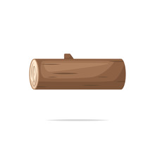Wooden Log Vector Illustration