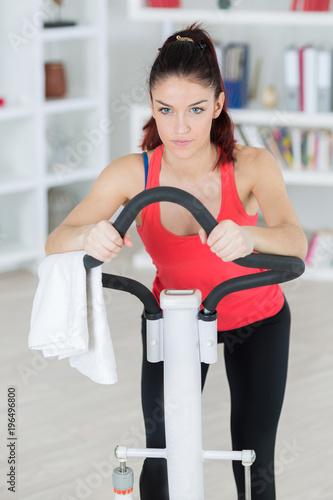 Fotografie, Obraz  girl on the stepper machine